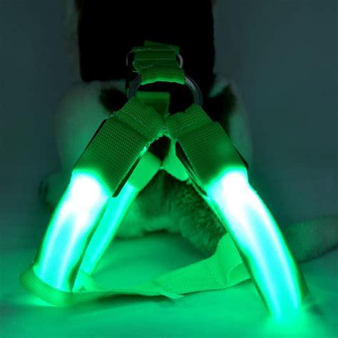 light up harness led glow flash belt harness leash tether pet