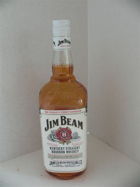 Botol Jim Beam 5 jim beam 1 liter bottle unopened empty colored glass bar prop jim beam