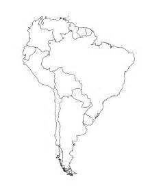 blank map of south america template