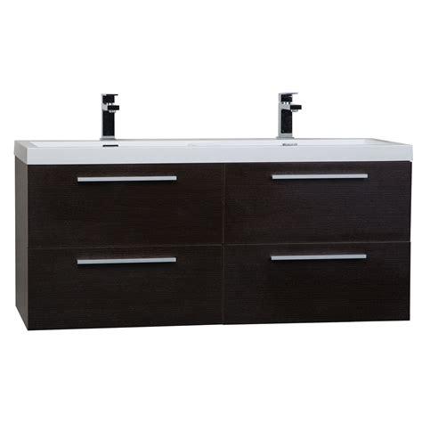 Modern Wall Mounted Bathroom Vanities Buy 47 Inch Wall Mounted Modern Bathroom Vanity In Walnut Tn T1200d Wg On Conceptbaths