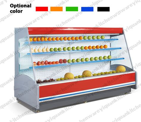 Freezer Aqua 6 Rak factory selling 2 to 8 degree fruit display refrigerator fruit and vegetable display rack