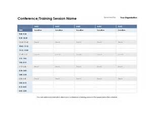 five day event schedule for excel 2010 or newer excel