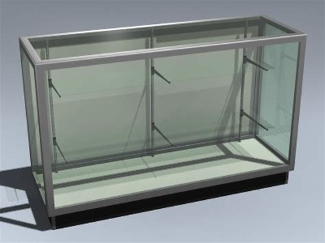 merchandise display case retail display case 3d model by mesh factory