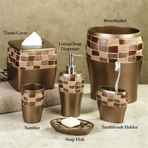 brown bathroom accessories bath accessories sets ideas homesfeed
