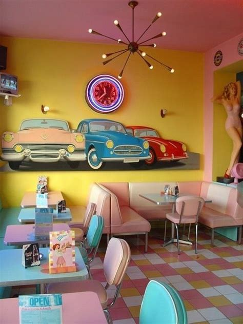 American Diner Decorations by American Diner D 233 Cor Retro Furniture From The 50s Pink