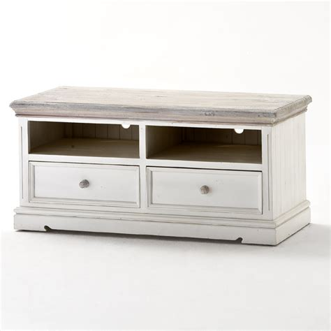Wooden Tv Cabinet by Opal Wooden Tv Cabinet In White Pine With 2 Drawers 25378