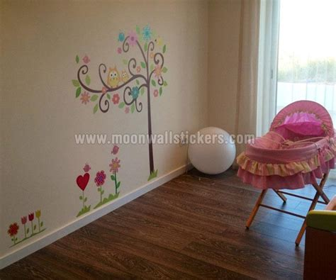 owl wall stickers for nursery owl in the tree nursery wall sticker customer image