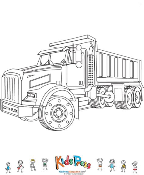 coloring page dump truck chuck the dump truck coloring pages pictures to pin on