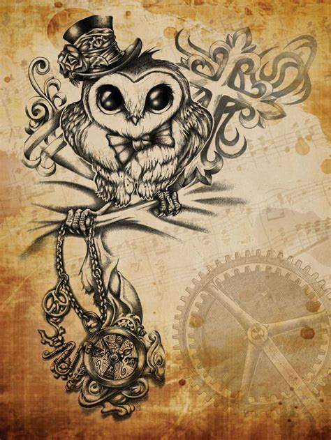 steam punk tattoos steunk owl by revenants1 on deviantart tats