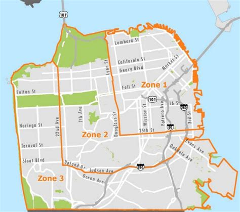 driver san francisco map locations parking in sf fees for car free for car