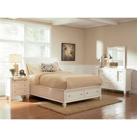 sandy beach bedroom set white coaster sandy beach 4 piece storage bedroom set in white