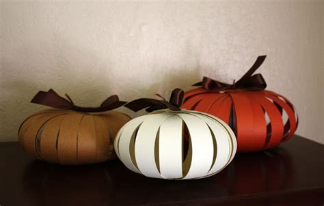 Pumpkin Paper Craft - paper pumpkins a and easy autumn craft one