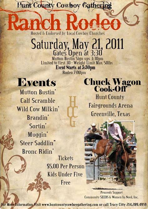 hunt county cowboy gathering ranch rodeo may 21 north