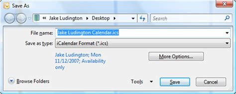 Icalendar File Save Your Outlook Calendar As Ical Jake Ludington S