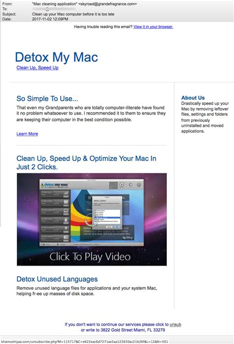 Detox My Mac by The Daily Scam November 8 2017