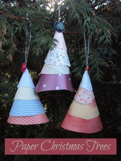 Paper Cone Tree Craft - tree ornaments for toddlers and preschoolers to make