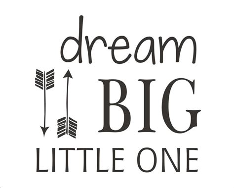 Little Cottage Home Decor by Dream Big Little One Stencil 6 Sizes Available Nursery
