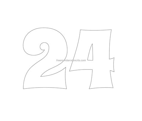 printable number stencils 24 inch free groovy 24 number stencil freenumberstencils com