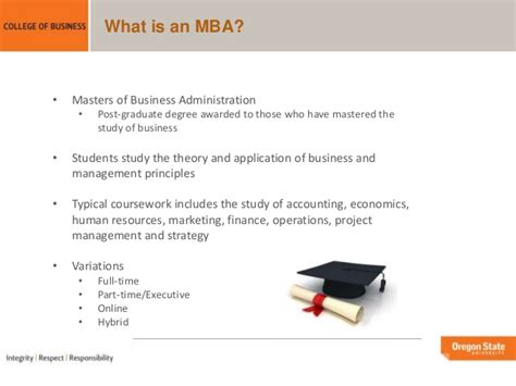 What Is An Mba Programme by Oregon State Mba Portland Programs Overview
