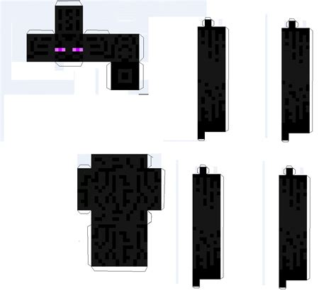 Minecraft Papercraft Enderman - minecraft papercraft guide papercrfat monsters