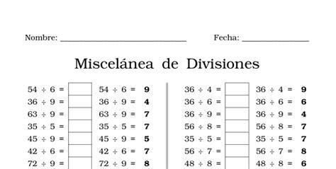 hojas de ejercicios de divisiones para imprimir ejercicios de divisi 243 n para imprimir