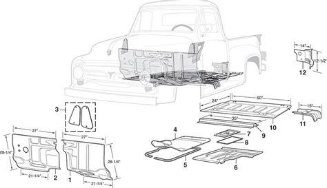 100 Doors Floor 53 by Steel Cab Repair Panels 1953 56 Ford F100 F250 Lmc Truck