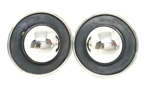 925 Bead Earring sterling mexico pressed bead stud earrings mexican