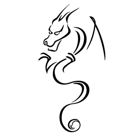 simple dragon stencils pinterest