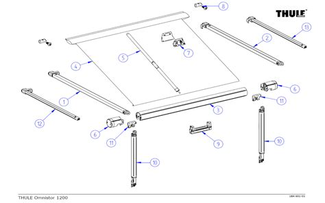 awning accessories parts thule omnistor 1200 awning spare parts by rose awnings