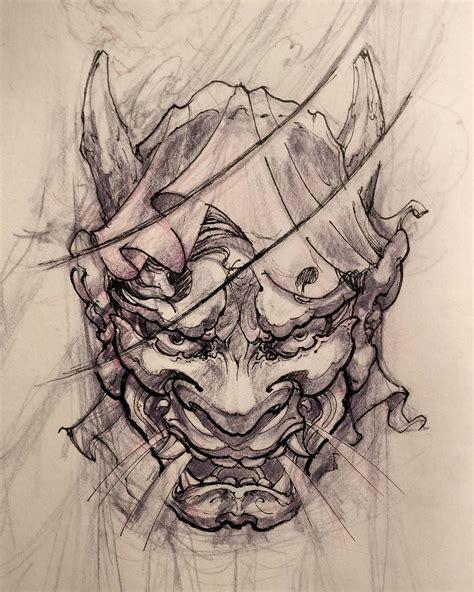 tattoo oriental demonio hannya tattoo design orientais hannya pinterest