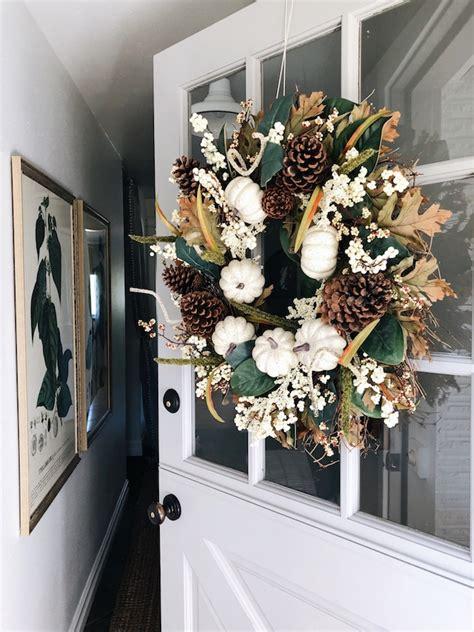 fall wreath   hang  wreath   door