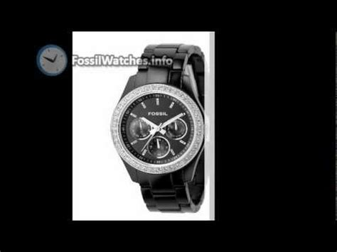 Jam Tangan Fossil Cecile Multifunction Ceramic Black Rosegold fossil s ce1091 cecile three ceramic b