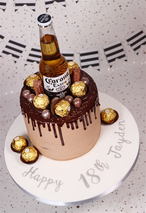 beer topped chocolate drip cake cakey goodness