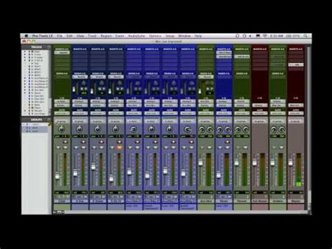 Mixing Rap Hip Hop In Pro Tools Creating Session Templates Part 1 Pro Tools Mixing Template