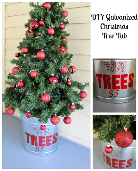 pictures of christmas trees in a wash tub diy galvanized tree tub 2 bees in a pod
