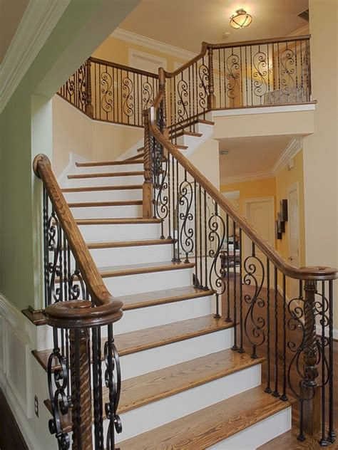 fancy staircase unique stair grills can add a quality look to your home