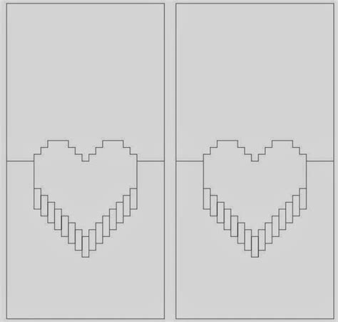 3d Pixel Card Template by Diy Pop Out Card The Idea King