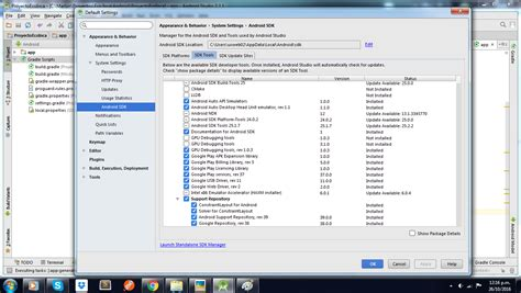 android studio layout behavior android studio error failed to resolve com android