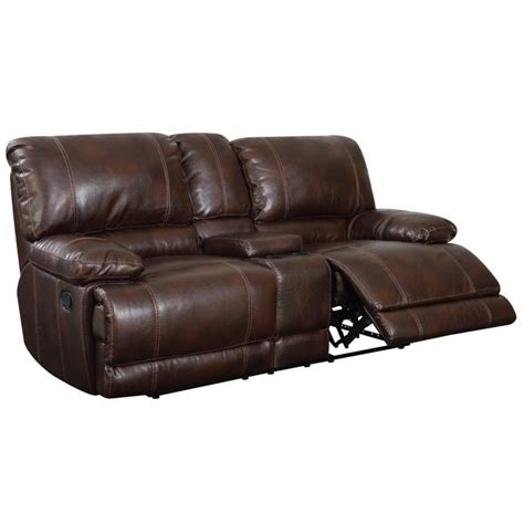 brown leather reclining loveseat global furniture usa leather reclining loveseat in brown