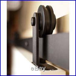8ft Double Sliding Barn Door Hardware Track Kit Closet Pole Barn Sliding Door Hardware