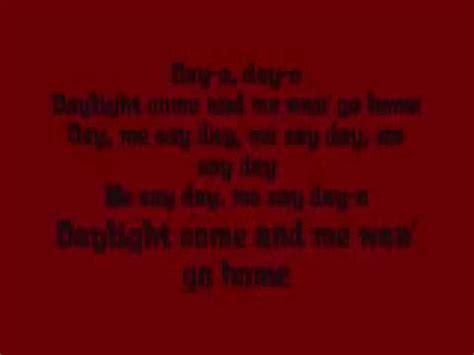 banana boat song zumba jump in the line harry belafonte with lyrics doovi