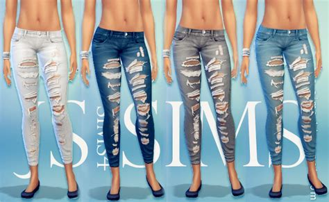 sims 4 jeans js sims 4 denim ripped jeans js sims