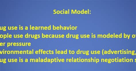 Social Model Detox by Addiction Theory Social Model Use Is A Learned