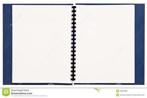 Blank Spiral Bound Presentation Book Xxl Stock Photo Image Of Copy Page 53483688 Spiral Bound Book Template