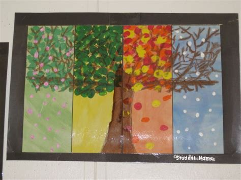 calendar design ideas ks2 four season tree by a second grader children s crafts