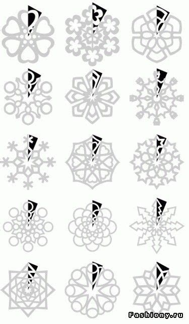How To Fold And Cut Paper Snowflakes - paper snowflakes cutting patterns paper