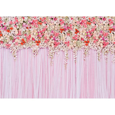 Wedding Backdrop Cloth by Thin Vinyl Cloth Printed Photography Background Flower