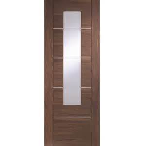 Home 187 portici walnut glazed internal door