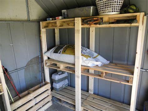 pallet palace storage shed organization system