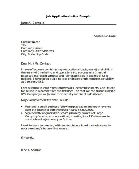 application letter sle business 46 application letter exles sles pdf doc
